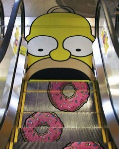 Guerrilla Marketing The Simpsons Ad