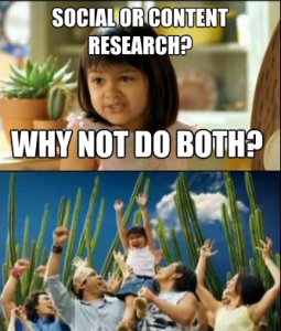 Social or Content Research